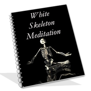 white skeleton meditation